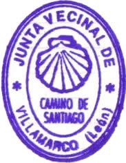 Sello del camino de Santiago Villamarco de las Matas