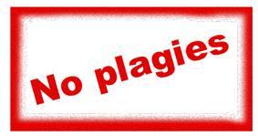 No plagies